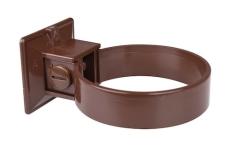 75 mm Plastmo brun plast rørholder 2 stk.