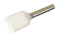 Tylle Isolerede dobbel 2x0,75 mm² hvid A0,75-8ETW2