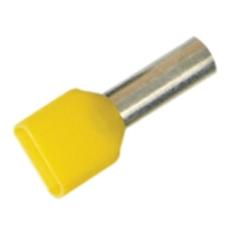 Tylle Isolerede dobbel 2x1,0 mm² gul A1-8ETW2