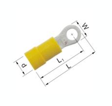 Isolerede Ringkabelsko gul 4-6 mm² M4 A4643R