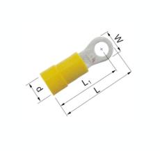 Isolerede Ringkabelsko gul 4-6 mm² M5 A4653R