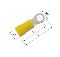 Isolerede Ringkabelsko gul 4-6 mm² M6 A4665R