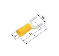 Isolerede Gaffelkabelsko gul 4-6 mm² M5 A4653G