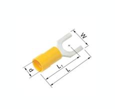 Isolerede Gaffelkabelsko gul 4-6 mm² M6 A4665G