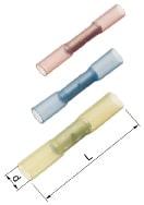 Isolerede Samlemuffe Krympbar rød 0,5-1,5 mm² A1535SKW