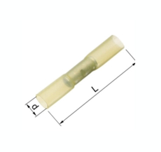 Isolerede Samlemuffe Krympbar gul 4-6 mm² A4650SKW