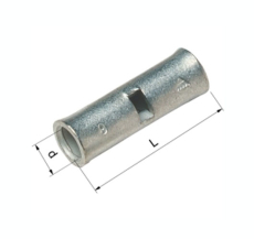 Pressemuffe CU KS 10 mm², klasse 2 og 5