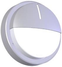 Vægarmatur O70-S290-E LED 600 HF 830 alu med halvskærm IP66