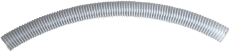 Fleksibelt rør til METROCOMPACT20. 65 diameter, 1 meter lang