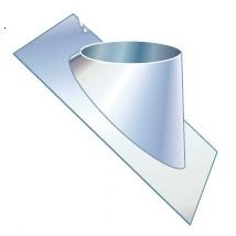 80 mm Metalbestos Duo taginddækning 25-45° flex