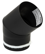 100mm Metalbestos knærør 45° knærør med keramisk pakning
