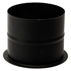 130 mm Metalbestos Sorte røgrør murbøsning, lige 100 mm