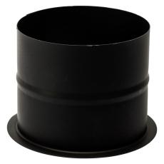 150 mm Metalbestos Sorte røgrør murbøsning, lige 100 mm