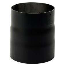 130 mm Metalbestos Sorte røgrør overgang iØ 135 mm/uØ 129 mm