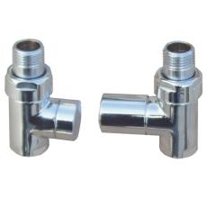 """Cylinder 1/2"""" ligeløbende ventilsæt krom"""