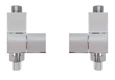 4k2 manuelt reguleret ventilsæt, krom, ligeløbende