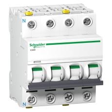 Automatsikring iC60N C 3P+N 10A 6kA