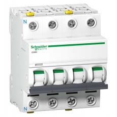 Automatsikring iC60N C 3P+N 25A 6kA
