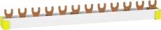 Resi9 Sløjfeskinne 3P+N, 12 modul, N-L1-N-L2-N-L3