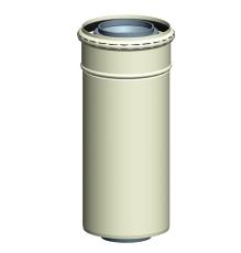 Milton koncentrisk rør DN60/100 1950 mm