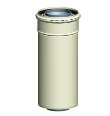 Milton koncentrisk rør DN80/125 450 mm