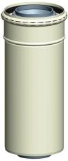 Koncentrisk rør. DN80/125, 1950 mm. x PP/ALU RAL9016