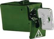 Tytan II Blokeringsskuffe grøn inklusiv nøgle