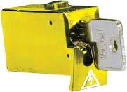 Tytan II Blokeringsskuffe gul inklusiv nøgle