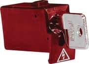 Tytan II Blokeringsskuffe rød inklusiv nøgle