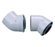 Bosch AZB 608/1 bøjning 2 x 45° Ø80/125 mm