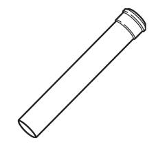 Vaillant EcoTEC forlængerrør 1,0 meter Ø 80 mm