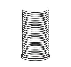 Vaillant Fleksibel aftræksrør 15 meter Ø 80 mm