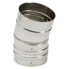 100 mm Metalbestos Omega vinkelstykke 15°