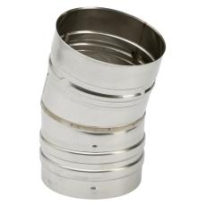 130 mm Metalbestos Omega vinkelstykke 15°