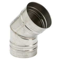 100 mm Metalbestos Omega vinkelstykke 45°