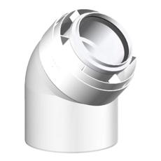 110/160 mm Metalbestos Connext vinkelstykke 45° PPS/ALU