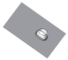 110/160 mm Metalbestos ConneXt inddækning 33-45° flex sort