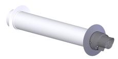 60/100 Metalbetos ConneXt væggennemføring, PPs/Alu