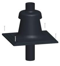 Milton topafdækning for skorsten 80 mm