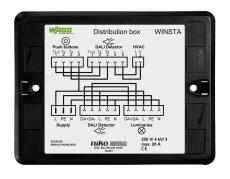 Fordelingsboks Winsta For HVAC styring via Dali-Sensor