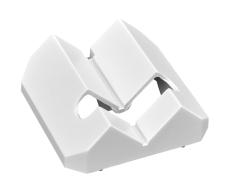 Hjørnebeslag til 351-26570, hvid