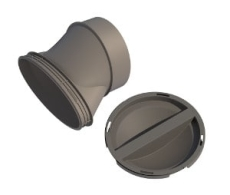 Boligflex Plus Fordelerboks Inline adaptor  BFP FB ADAP 125