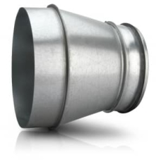 Reduktion RCLFL 188 200 - Adapter for PH ISO Taghætte Ø180