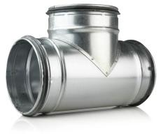 125 x 100 x 125 mm T-rør ventilation TCPL