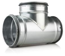 125 x 125 x 125 mm T-rør ventilation TCPL