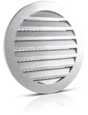 125 mm Vægrist aluminium USAV