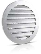 200 mm Vægrist aluminium USAV