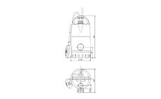 """Grundfos pumpe CC9-A1 med 3/4-1-5/4"""" nippel og 10 m kabel, 2"""
