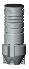 Grundfos 600 x 2000 x 50 mm PE-pumpebrønd t/sort m/SEG Autoa
