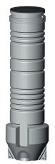 Grundfos Domestic 600 x 3000 x 50 mm PE-pumpebrønd t/sort m/